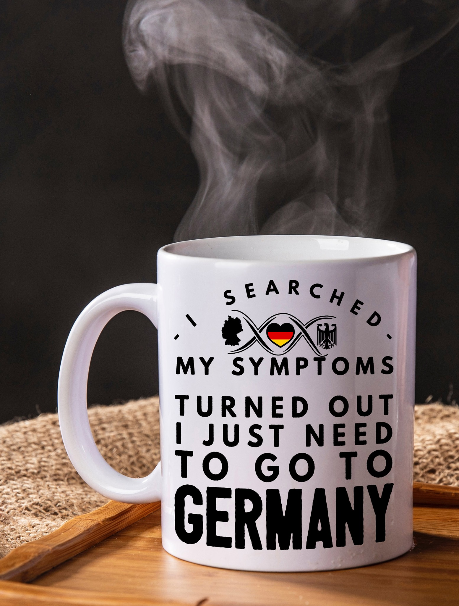 German Mug I Searched My Symptoms Turned Out To Go German
